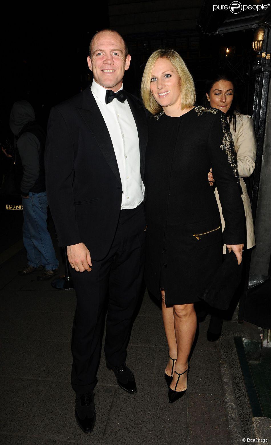 Zara Phillips et Mike Tindall, très chic, fêtaient le 25 mars 2015 la fin du Tournoi des VI Nations au club privé Annabel's, à Londres, à l'occasion d'un dîner VIP.