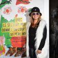 """Lââm - Début de la tournée des """"Pères Noël verts"""" 2014 à l'occasion des 70 ans du Secours populaire au Palais de l'Unesco à Paris le 8 décembre 2014."""