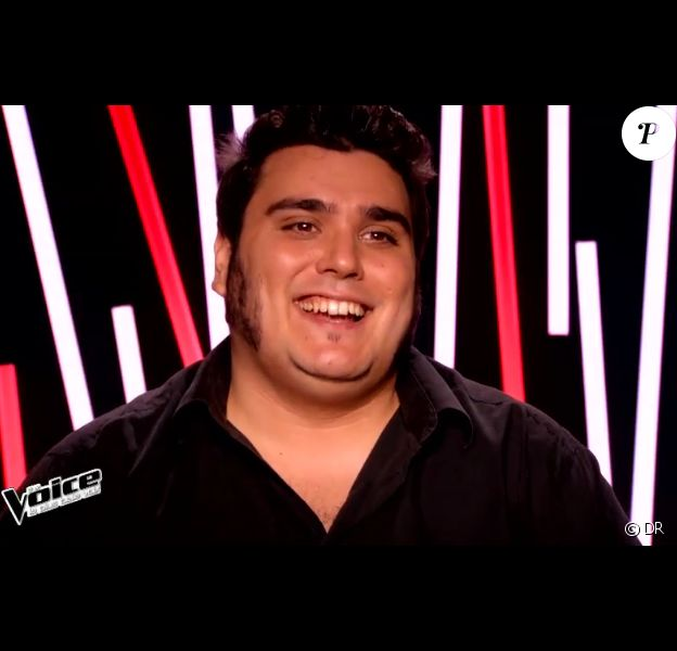 Yoann lors de l'épreuve ultime de The Voice 4, sur TF1, le samedi 21 mars 2015