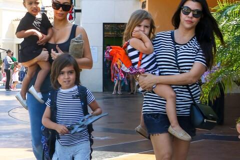 Kim Kardashian : Maman détendue avec North, sa soeur Kourtney et ses enfants
