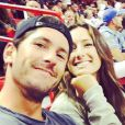 Nic Roldan et son amoureuse Jessica Springsteen devant un match NBA - mars 2015