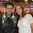 """""""La journaliste Mélissa Theuriau et Jamel Debbouze dans  Vivement Dimanche , émission du 29 mars 2015"""""""