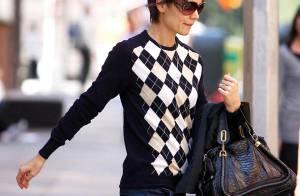 REPORTAGE PHOTOS : Katie Holmes a enfin tout bon... une vraie gravure de mode !!!