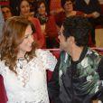Mélissa Theuriau et Jamel Debbouze dans  Vivement Dimanche , émission du 29 mars 2015