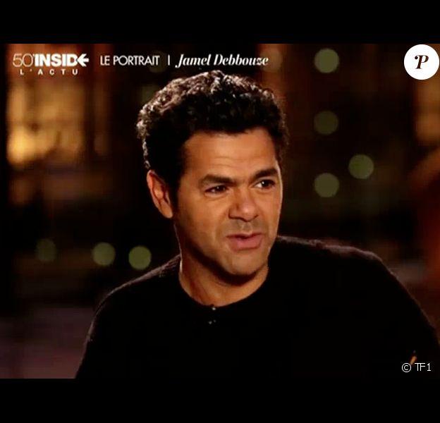 L'humoriste Jamel Debbouze évoque son coup de foudre pour sa femme Mélissa Theuriau - Emission 50 min Inside sur TF1. Le 4 avril 2014.