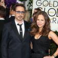 Robert Downey Jr. et sa femme Susan Levin - La 72ème cérémonie annuelle des Golden Globe Awards à Beverly Hills, le 11 janvier 2015.