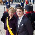 Le prince Constantijn et la princesse Laurentien des Pays-Bas à La Haye le 16 septembre 2014 lors du Prinsjedag.