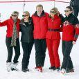 La princesse Laurentien, la princesse Mabel, le roi Willem-Alexander, la reine Maxima, le prince Constantijn des Pays-Bas en vacances dans la station de ski de Lech en Autriche le 17 février 2014.