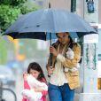 Katie Holmes et sa fille Suri à New York le 20 juillet 2012