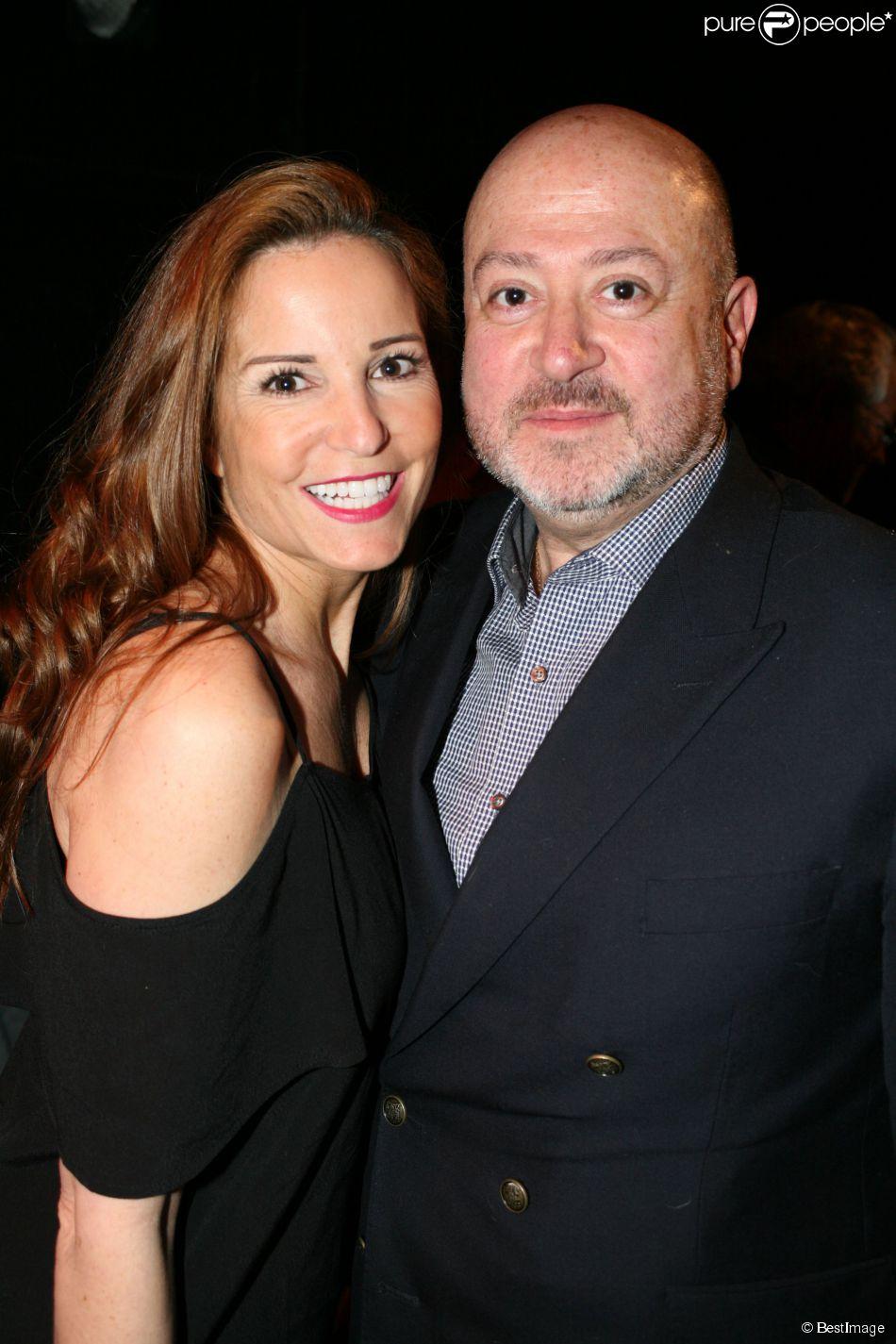 """Sandy Valentino et Oscar Sisto - Générale de la comédie musicale """"Cabaret La Chatte Bleue"""" à Paris le 8 avril 2015."""