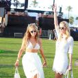 "Paris Hilton, Nicky Hilton - People au 1er jour du Festival ""Coachella Valley Music and Arts"" à Indio le 10 avril 2015"