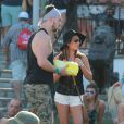 "Lea Michele et son petit ami Matthew Paetz au 2ème jour du Festival ""Coachella Valley Music and Arts"" à Indio, le 11 avril 2015"