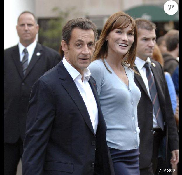 Nicolas et Carla, en visite à Big Apple...