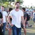 """Patrick Schwarzenegger au 3ème jour du Festival de """"Coachella Valley Music and Arts"""" à Indio, le 11 avril 2015"""