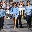"""Rihanna arrive sur le plateau de l'émission """"Jimmy Kimmel Live!"""" à Hollywood, le 1er avril 2015."""