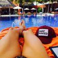 Lisa Rinna en vacances au Belize, sur Instagram le 25 mars 2015