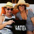 Lisa Rinna en vacances au Belize avec son mari Harry Hamelin, sur Instagram le 31 mars 2015