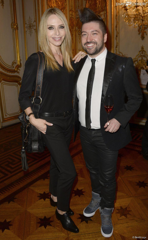 """Tonya Kinzinger et Chris Marques - Soirée de prestige à l'hôtel Marcel Dassault Pour """"Autistes sans Frontières"""" à Paris le 16 avril 2015."""