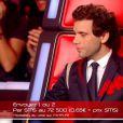 Mika dans The Voice 4 (demi-finale), le samedi 18 avril 2015 sur TF1.
