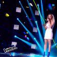 Camille Lellouche dans  The Voice 4  (demi-finale), le samedi 18 avril 2015 sur TF1.