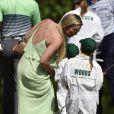Lindsey Vonn et la fille de Tiger Woods, Sam, le 8 avril 2015 au Masters d'Augusta à l'occasion du Par 3 Contest à l'Augusta National Golf Club d'Augusta