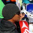 Lindsey Vonn et Tiger Woods après la slalom géant des Championnats du monde de Beaver Creeck à Vail le 2 février 2015