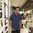 """Exclusif - Waly Dia - Soirée de lancement de la nouvelle collection de chaussures Aldo """"Match Perfect"""" printemps-Eté 2015 à Paris, le 24 avril 2015."""