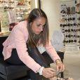 """Exclusif - Jessica Houara-d'Hommeaux - Soirée de lancement de la nouvelle collection de chaussures Aldo """"Match Perfect"""" printemps-Eté 2015 à Paris, le 24 avril 2015."""