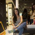 """Exclusif - Ludivine Sagna - Soirée de lancement de la nouvelle collection de chaussures Aldo """"Match Perfect"""" printemps-Eté 2015 à Paris, le 24 avril 2015."""