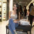 """Exclusif - La belle Ludivine Sagna - Soirée de lancement de la nouvelle collection de chaussures Aldo """"Match Perfect"""" printemps-Eté 2015 à Paris, le 24 avril 2015."""