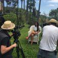 Ludivine Sagna : tournage à Cannes d'un projet à venir, en avril 2015
