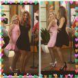 Sofia Vergara a ajouté une photo à son compte Instagram avec Reese Witherspoon pour la promotion de leur film Hot Pursuit, le 21 avril 2015
