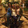 Sofia Vergara a ajouté une photo à son compte Instagram avec Reese Witherspoon pour la promotion de leur film Hot Pursuit, le 25 avril 2015