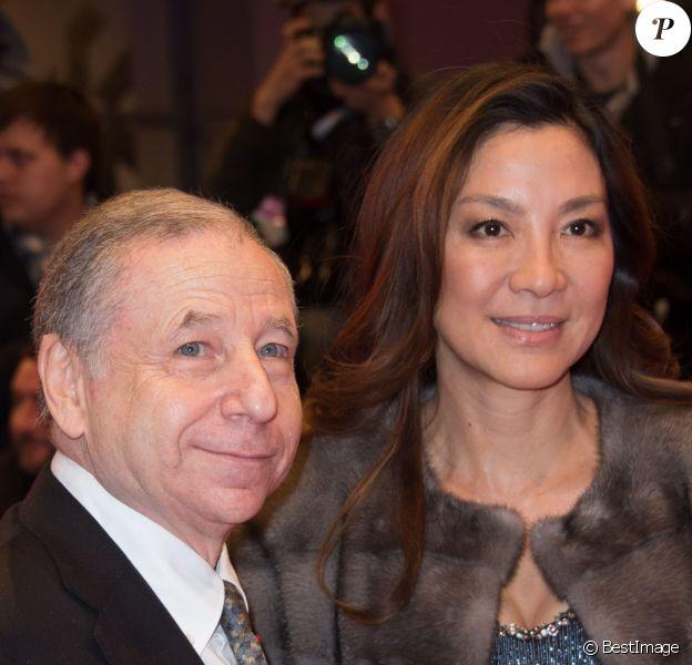 Jean Todt et sa compagne Michelle Yeoh - Première du film 'The Monuments Men' lors du 64ème festival international du film de Berlin en Allemagne le 8 février 2014.