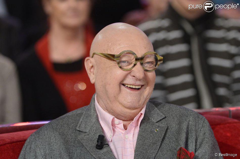 """Jean-Pierre Coffe lors de l'enregistrement de l'émission """"Vivement Dimanche"""" à Paris le 4 février 2015"""