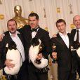 Yves Darondeau, Luc Jacquet, Christophe Lioud et Emmanuel Priou aux Oscars 2006.
