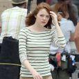 Exclusif - Emma Stone à Rhode Island le 9 juillet 2014.