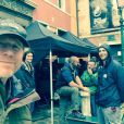 Ron Howard sur le tournage d'Inferno à Venise. (photo postée le 27 avril 2015)