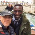 Ron Howard et Ron Howard sur le tournage d'Inferno à Venise. (photo postée le 29 avril 2015)