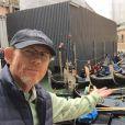Ron Howard sur le tournage d'Inferno à Venise. (photo postée le 29 avril 2015)