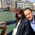 Felicity Jones et Tom Hanks sur le tournage d'Inferno à Venise. (photo postée le 29 avril 2015)