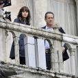 "Ron Howard, Felicity Jones et Tom Hanks - Tournage du film ""Inferno"" à Venise, le 29 avril 2015."