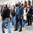 """Omar Sy - Tournage du film """"Inferno"""" à Venise, le 29 avril 2015.  Inferno set in Venise, Italy, on April 29th 2015.29/04/2015 - Venise"""
