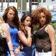 Daniela Martins et le casting des Anges 2 à Miami le 20 avril 2011.
