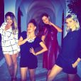 Karima Charni, Hedia Charni, Malika Ménard et Alexandra Rosenfeld prenennt la pose glamour à Hammamet en Tunisie. Mai 2015.