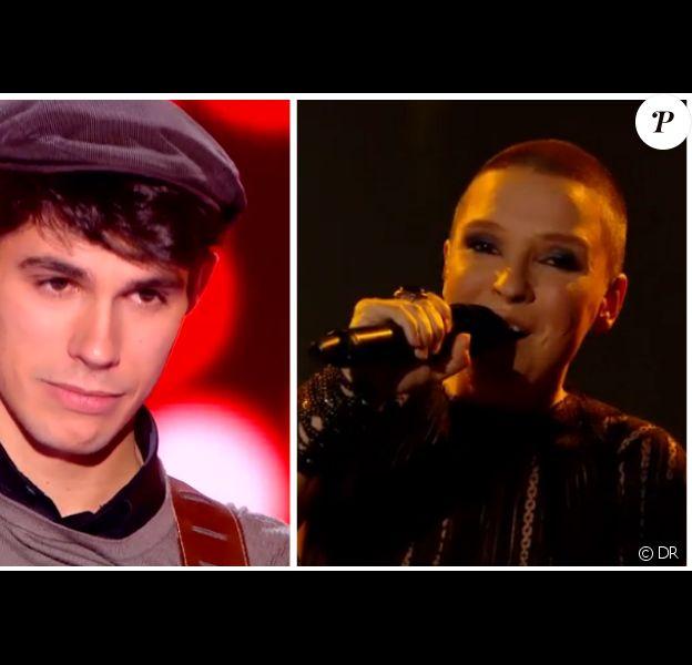Lilian Renaud et Anne Sila, lors de la finale de The Voice 4 le samedi 25 avril 2015 sur TF1.