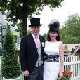 Charles Spencer, 9e comte Spencer, et son épouse Karen Gordon à Ascot en juin 2013