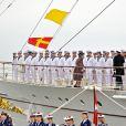 La reine Margrethe II de Danemark et le prince consort Henrik ont embarqué le 5 mai 2015 à bord du yacht royal, le Dannebrog, pour leur traditionnelle croisière officielle des beaux jours.
