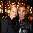 Le couple Belmondo junior toujours aussi glamour à l'ouverture de la boutique Christian Audigier à Paris