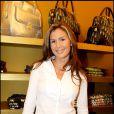 Vitaa à l'ouverture de la boutique Christian Audigier à Paris